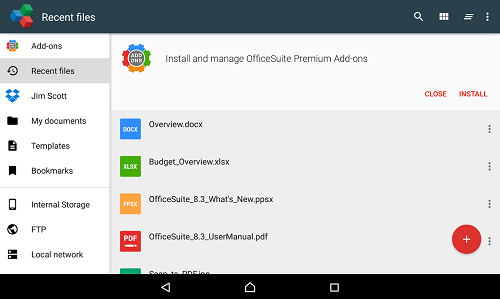 OfficeSuite 8 + PDF Converter para Windows Phone
