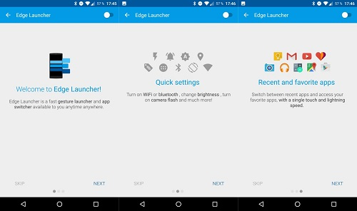 Edge Launcher para Android