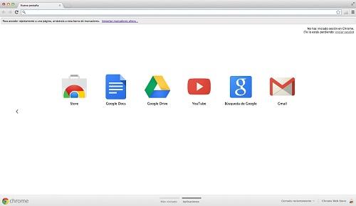 Chrome en un equipo Mac