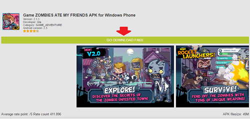 Zombies Ate My Friends para Windows Phone