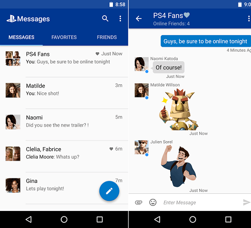 PlayStation®Messages para Android