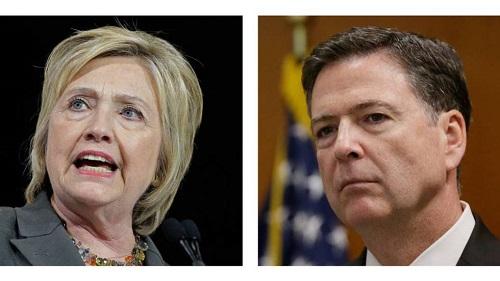 Contraposición entre Hillary Clinton y el jefe del FBI
