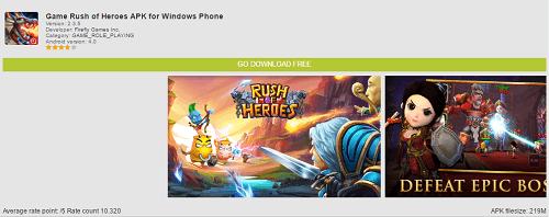 Rush of Heroes para celular