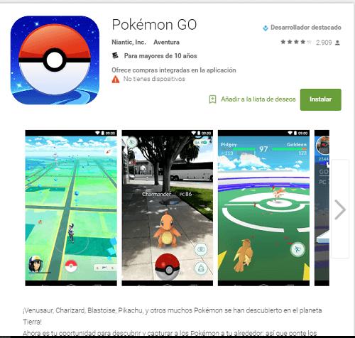 Descargar Pokémon Go Android
