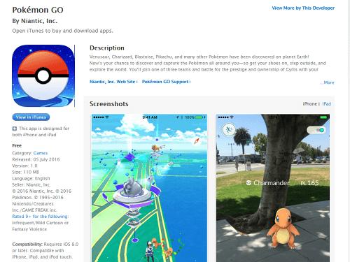 Descargar Pokémon Go iOS