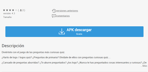 Preguntas Curiosas Quiz para Windows Phone