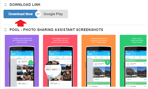 Pool - Photo Sharing Assistant para Android