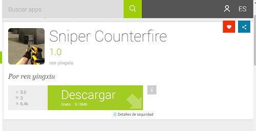 Sniper Counterfire para Huawei y BlackBerry