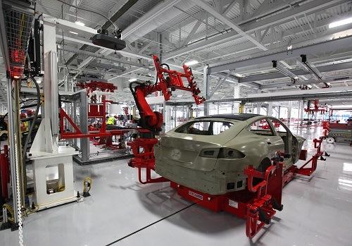 Fabrica de producción de vehiculos eléctricos