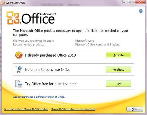 Instalar Word en Office 2010