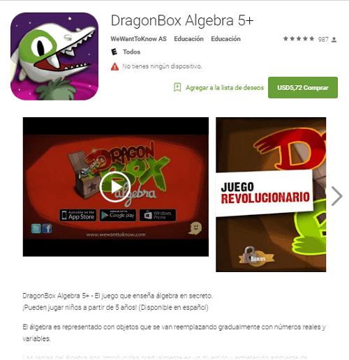 Respuestas para Dragon Box5+