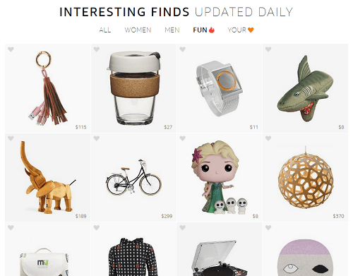 Los items mas trendy pueden ser encontrados en Amazon Interesting Finds