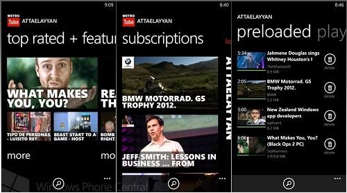 Interfaz de MetroTube