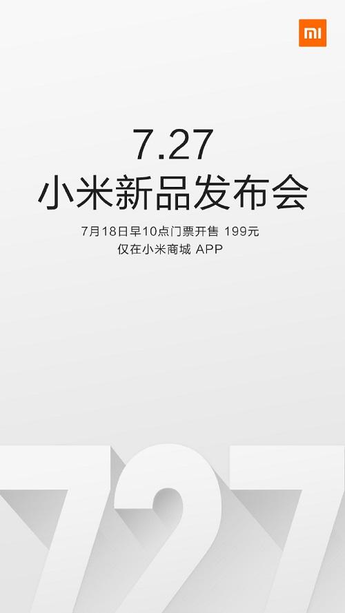 Invitación al lanzamiento del Redmi Note 4