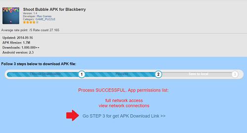 Shoot Bubble para BlackBerry