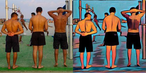 Antes y después con Prisma