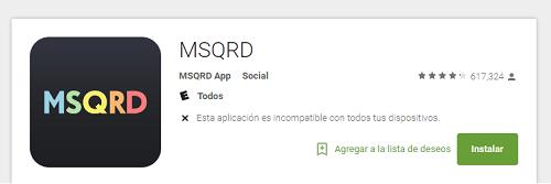 Botón instalar en la Google Play Store