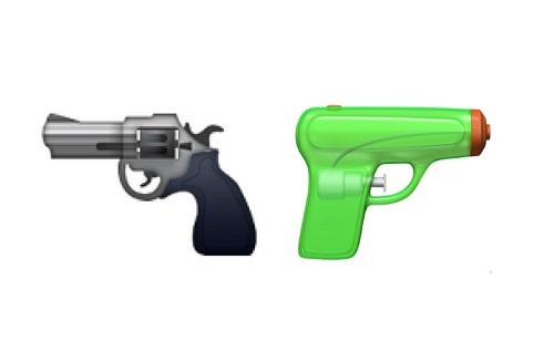 Cambio de emoji de pistola de Apple para iOS 10