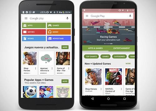 Cambios en la Google Play Store