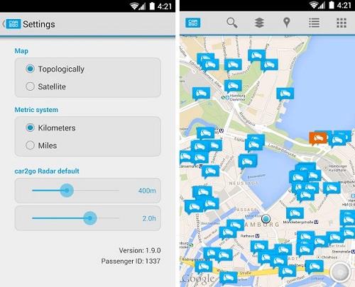 Car2go para Android
