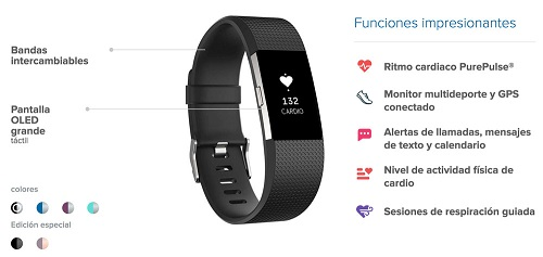 Características Fitbit Charge 2