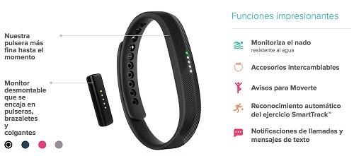Características Fitbit Flex 2