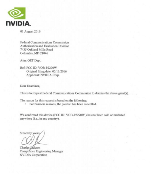 Carta de NVIDIA