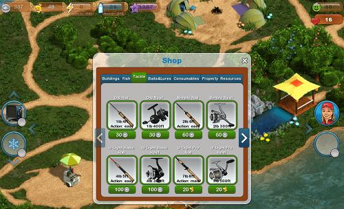 Distintas opciones para pescar