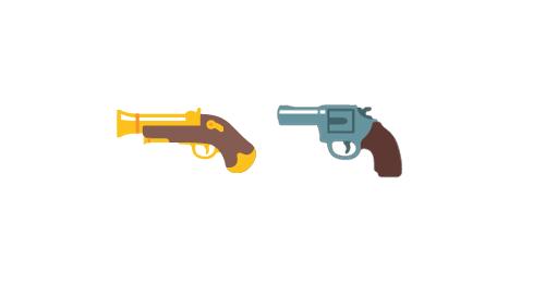 Emojis de Arma de fuego en cambios de emoji de Android en versión 5.0