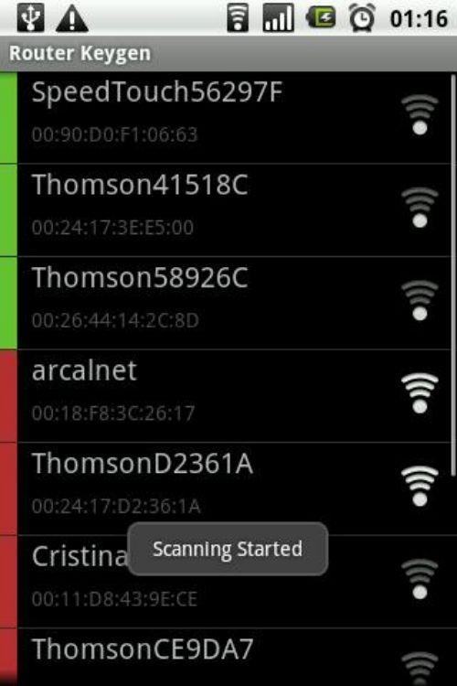 Escanea las redes disponibles
