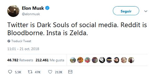 Elon Musk - Twitter el Dark Souls de las redes sociales