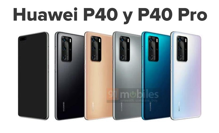 Huawei P40 y P40 Pro colores 2020
