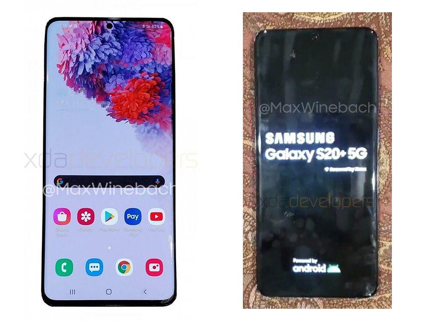xda developers primeras imágenes del Samsung Galaxy S20+