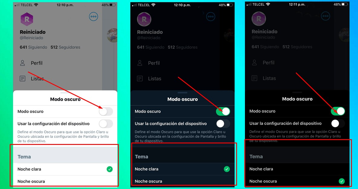 Activar el modo oscuro de Twitter en iOS y Android