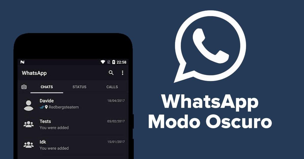 WhatsApp está trabajando en el Modo Oscuro para Web y Escritorio