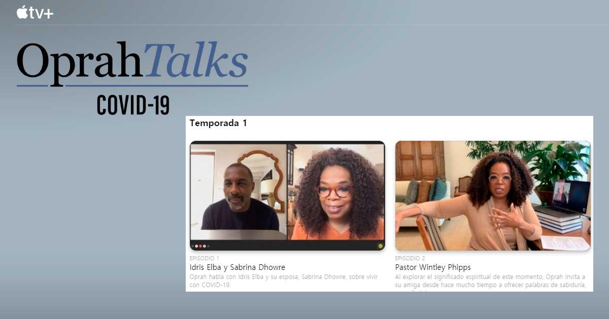 "Apple lanza la serie llamada ""Oprah Talks COVID-19"" en Apple TV +"