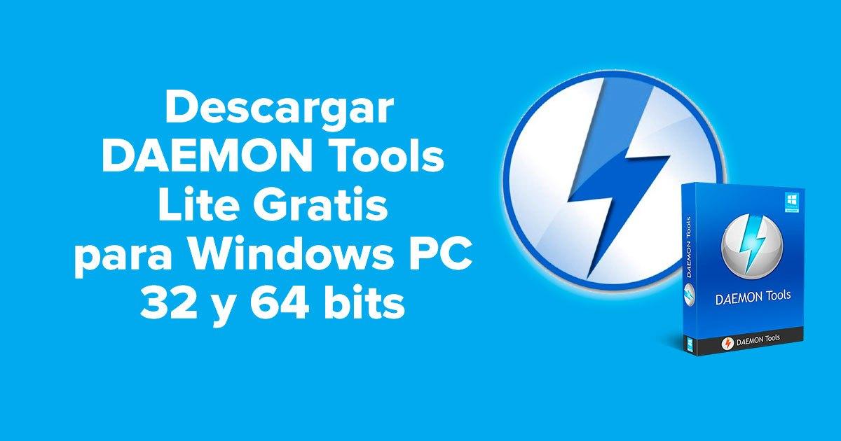 Descargar DAEMON Tools Lite Gratis para Windows PC 32 y 64 bits