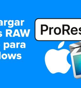Descargar ProRes RAW Apple para Windows