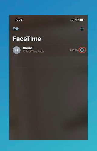 Iniciar aplicación the FaceTime