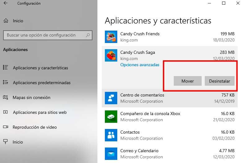 desinstalar apps windows