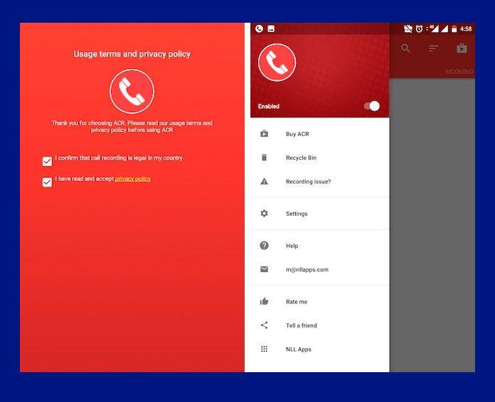 grabar llamadas con Call Recorder – ACR