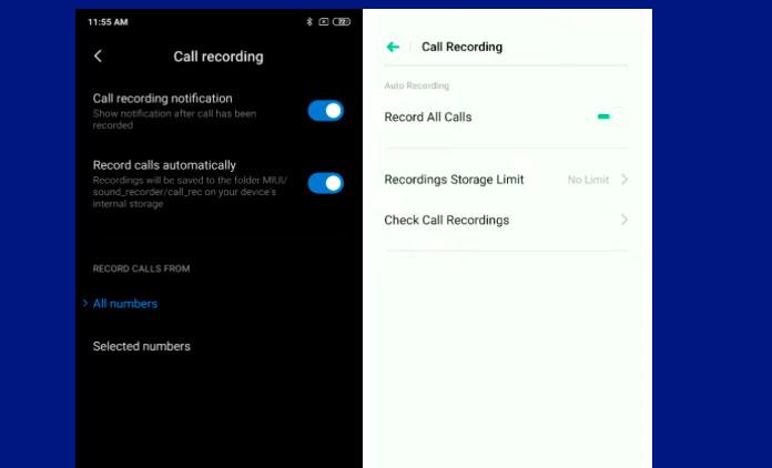 grabar llamadas en Android Pie y Q