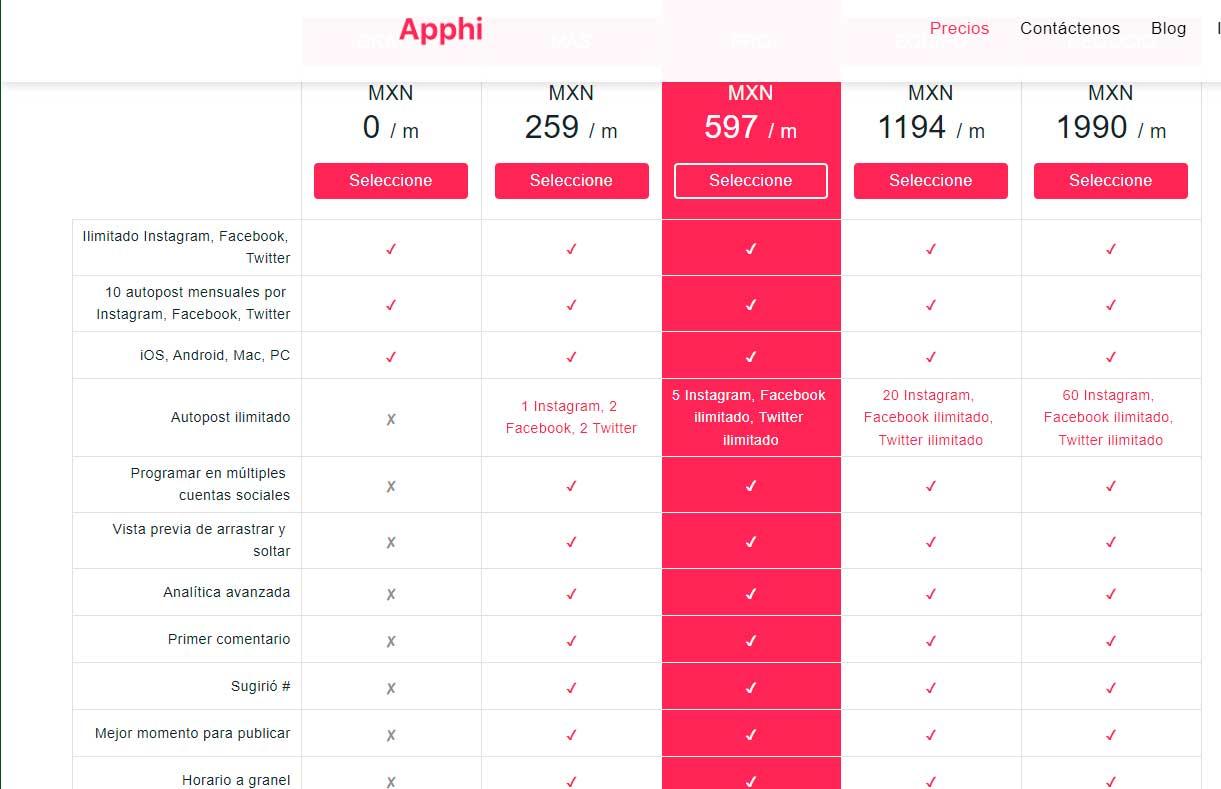 planes-y-precios-apphi-para-instagram-programar-publicaciones