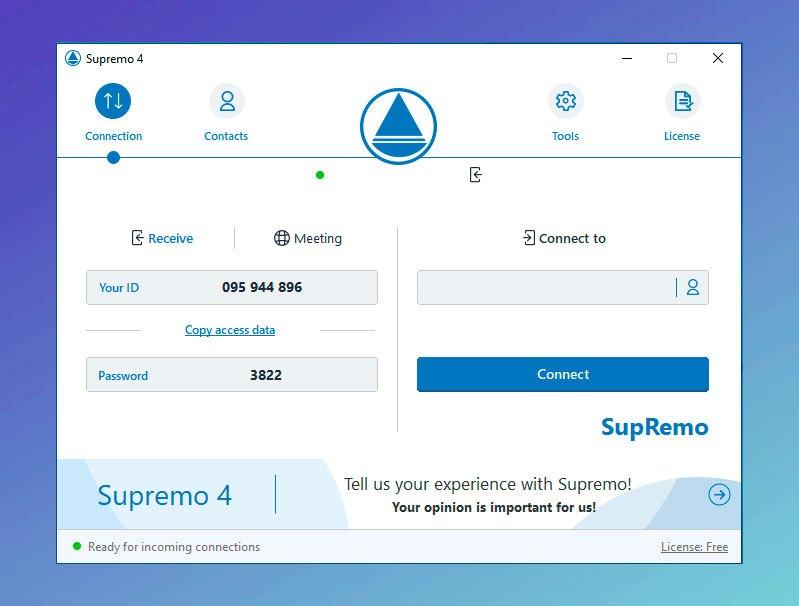 Acceso remoto Plug & Play supremo escritorio remoto