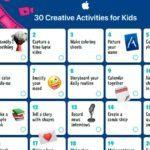 Apple lanza divertida hoja de actividades para mantener a los niños productivos en la cuarentena