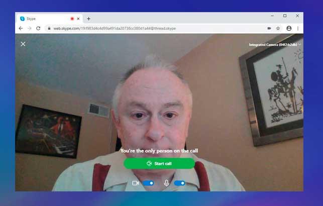 Cómo comenzar una videoconferencia de Skype