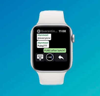 Iniciar nuevos chats apple watch