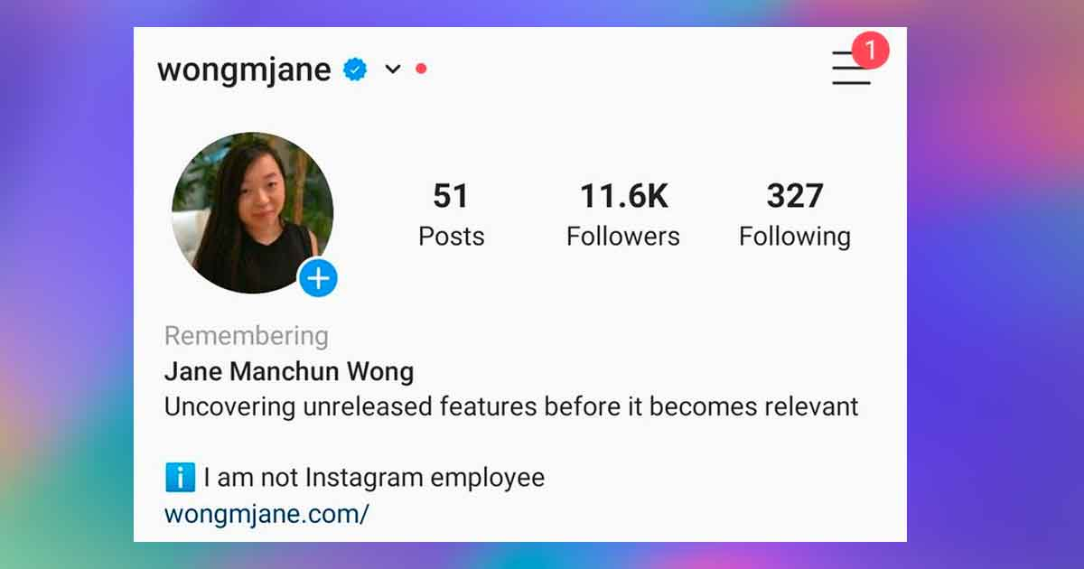 """Instagram agregará una etiqueta de """"Recordando"""" en perfiles memorizados"""