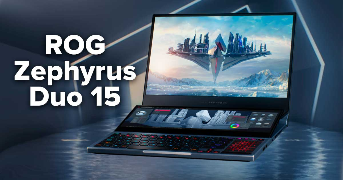 La Nueva Laptop gaming Zephyrus Duo 15 de Asus agrega pantalla secundaria