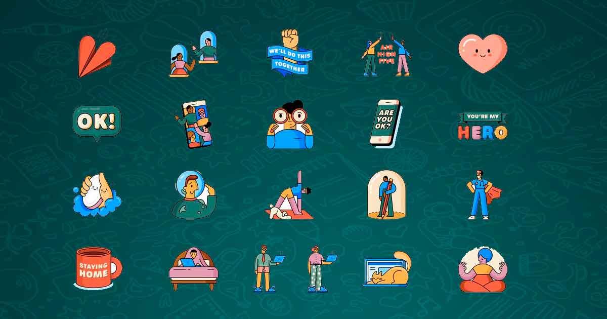 """WhatsApp y la OMS lanzan nueva colección de stickers """"Juntos en Casa"""""""